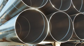 Spirally welded pipes