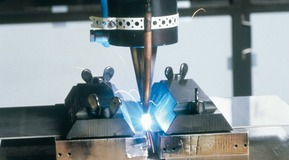 Laser welding, Detail view.
