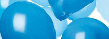 View of latex balloons colour blue. Material for balloonkit campaign 2006.